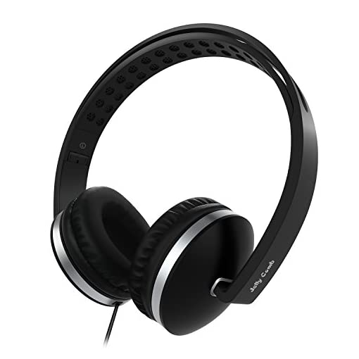 Jelly-Comb-On-Ear-Headphones-with-Mic-Foldable-Corded-Headphones-Wired-Headsets-with-Microphone-Volume-Control-for-Cell-Phone-Tablet-PC-Laptop-MP34-Video-Game