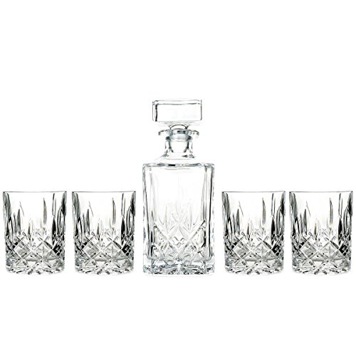 Marquis by Waterford Decanter Set with 4 Double Old Fashioned Glasses (Glass Liquor)