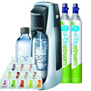 Sodastream Fountain Jet Soda Maker Starter Kit + Extra SodaStream 60-Liter Carbonator-Spare Cylinder by SodaStream