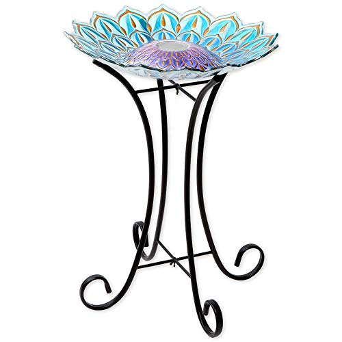 Led Lighted Bird Bath
