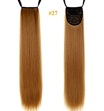Amazon 24inch cheap long straight synthetic ponytails clip 24inch cheap long straight synthetic ponytails clip in hair extensions ribbon ponytail ginger blonde pmusecretfo Gallery