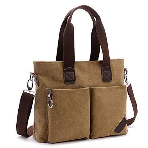 ToLFE Women Top Handle Satchel Handbags Tote Purse Shoulder Bag (Khaki)