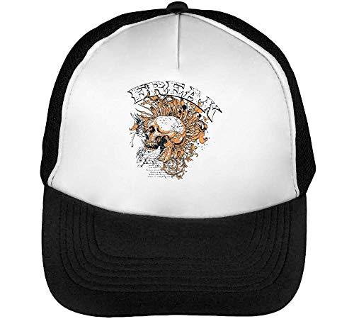 Beisbol Blanco Skull Punk Hombre Negro Gorras Snapback Freak Xv60qxw04