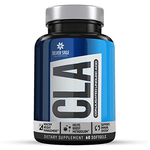 (CLA, CLA Supplements, CLA Capsules, CLA Safflower - 60 Soft-Gel 2000 MG Complex Power CLA by Silver Sage Nutrition - Weight Loss, Non GMO, Anti Inflammatory, All Natural, Retain Lean Muscle Mass)