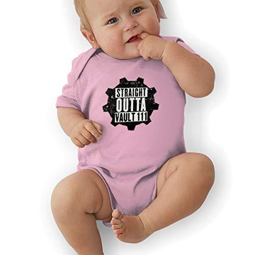 Waterhake Baby Boy Bodysuits, Straight Outta Vault Organic Baby Toddler Bodysuit Baby Clothes Pink -