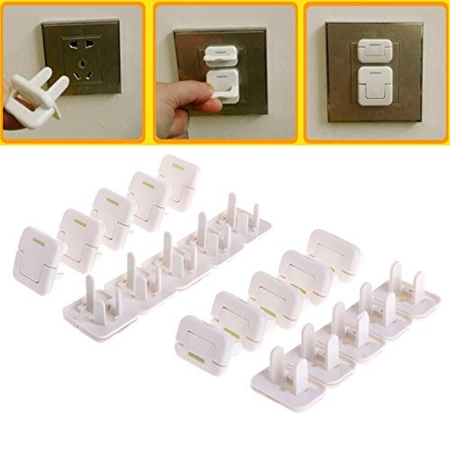 Gold Happy 10PCS Electrical Protective Socket Outlet Plug Lock Cover for Baby s Safety