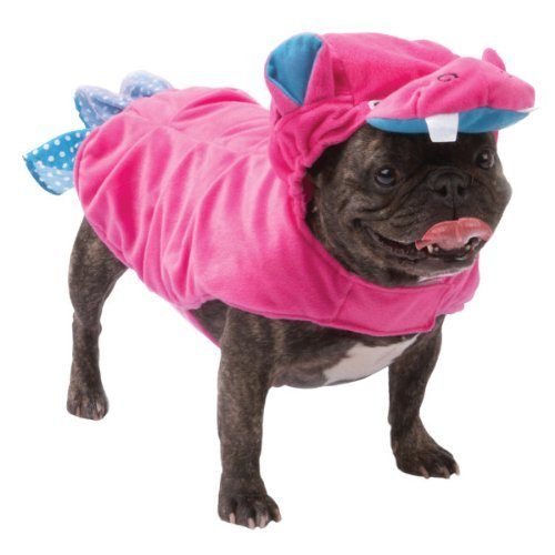 [Pink Hippo Dog Costume Dress Up Pet Halloween Size LARGE] (Costumes For Dogs Petsmart)