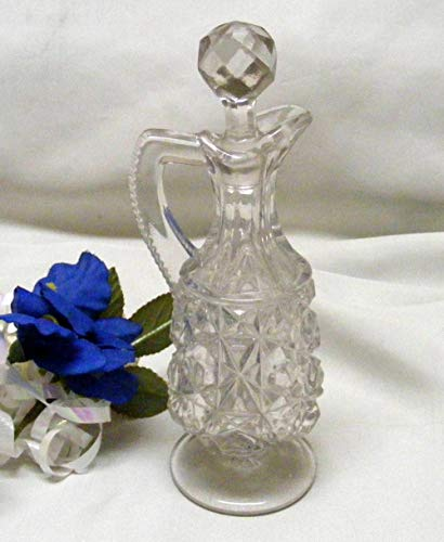 EAPG Lattice and Block Zipper Handled Antique Cruet for sale  Delivered anywhere in USA