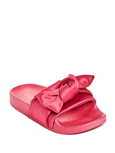 Sandals Satin Bow (GUESS Factory Amorita Girl's Satin Bow Slide Sandals)