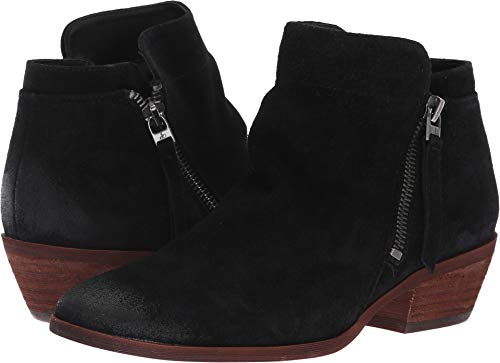 Sam Edelman Women's Packer Ankle Boot, Black Suede, 10 M US