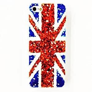 CoolCHILD Punk Shinning The United Kingdom National Flag Pattern TPU Soft Case for iPhone 5/5S