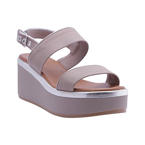 Inuovo argento Femme Pour Sandales Grigio qa6wgx4Ow