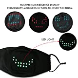 Voice Activated LED Face Mask - Imitates Lips