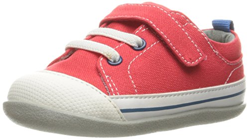 See Kai Run Boys' Stevie II Boat Shoe, Red Canvas, 3 M US Infant