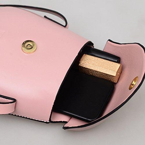 Sac Phone Femmes À Cell Mini À Main Sac Noir Case Bandoulière Main Sac Monnaie Mode À Dabixx Rose Portefeuille Poche Zw56xwqO