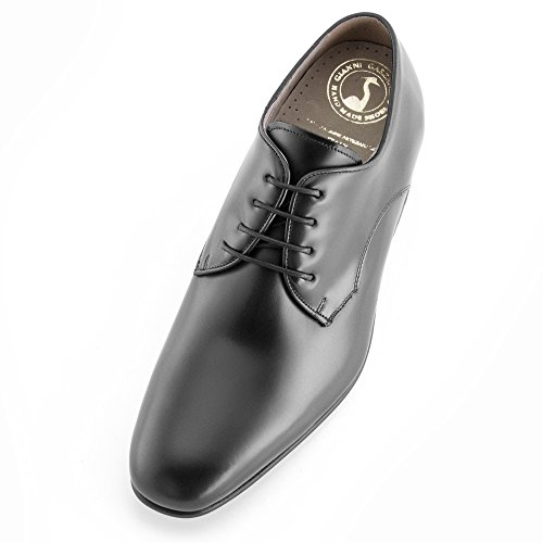 7 Aumentan Negro En Fabricados De Modelo Piel Hasta Hombre Con Que Gala Altura Alzas Zapatos Masaltos Cm zqTwSx