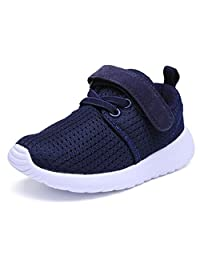 DADAWEN Kids' Girl's Boy's Breathable Magic Strap Fashion Sneakers(Toddlers/Little Kids)
