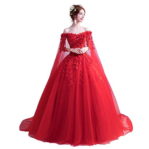 Evondress Women's Off The Shoulder Quinceanera Dresses Applique