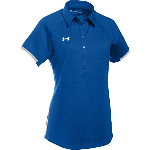 Under Armour Women's UA Rival Polo (Large, Royal-White)