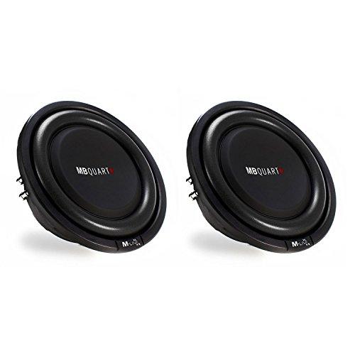 MB Quart M Line 12' 600W Dual Voice Coil Shallow Low Profile Subwoofer (2 Pack)