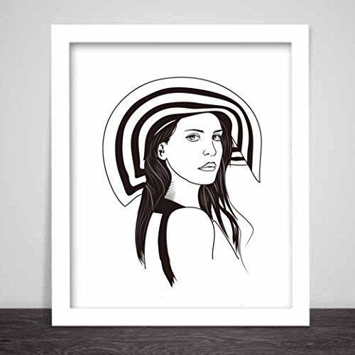 Lana Del Rey Honeymoon Art Poster Born to Die
