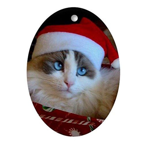 Rag Doll Cat Ornament - CafePress Ragdoll Cat Christmas Oval Ornament Oval Holiday Christmas Ornament