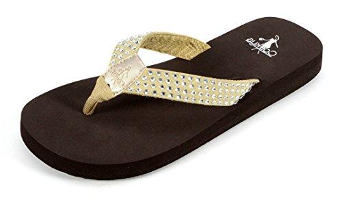 Corkys Femmes Tori Flip-flop Sandales Champagne