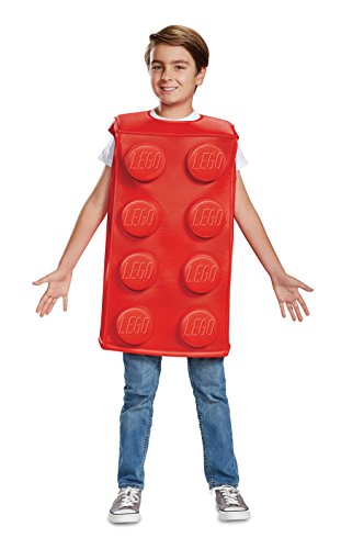 Lego Brick Halloween Costume (Disguise Red Brick Child Costume, Red,)