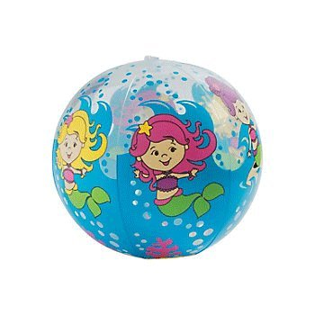 Inflatable Mermaid Beach Balls - 12 pc by Fun Express