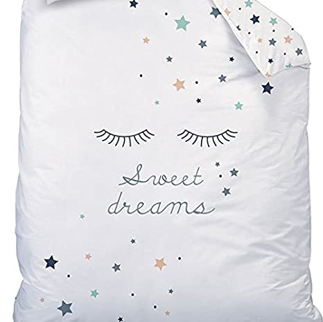 Sweet Dreams Girls' Bed Linen Set with Reversible Stars