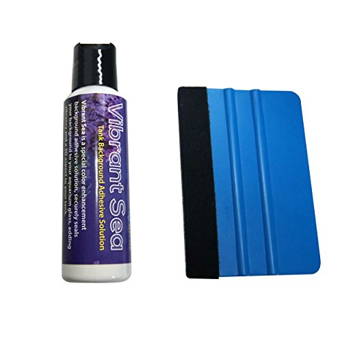 Vepotek Vibrant Sea Mounting & Glue Solution Combo Kit For Aquarium Background W/ Squeegee (2 Oz (60ml)) by Vepotek