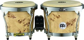 Meinl Percussion MB400DB-M RAPC (Radial 5 Ply Construction) Wooden Bongos 6 3/4-Inch and 8-Inch, Desert Burl Matte