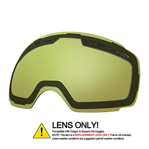 OTG Ski Goggles for Men Women, Detachable Dual Spherical REVO Lens UV400 Protection Anti Fog Skiing Goggle Over the Glasses for Snowboarding,Snowmobile Winter Snow Sport - Sunglasses Sports For Snow Best