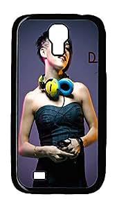 Samsung Galaxy S4 Case,Customize Ultra Slim Dj Tina Hard Plastic PC Blcak Case Bumper Cover for S4