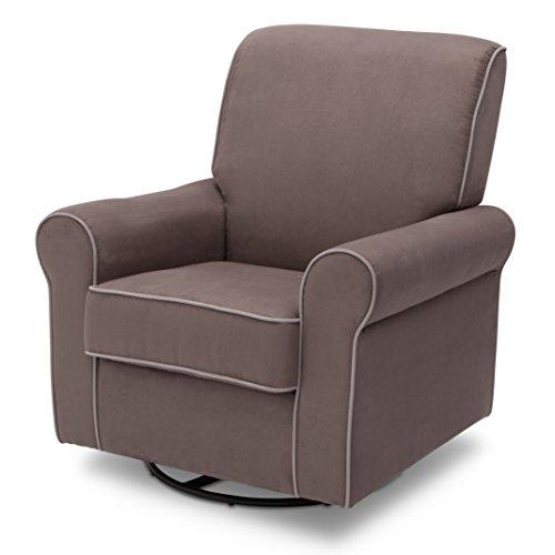 Delta Children Rowen Glider Swivel Rocker Chair, Graphite -