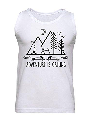 Adventure Is Calling Camping In The Woods Design Men's Tank Top