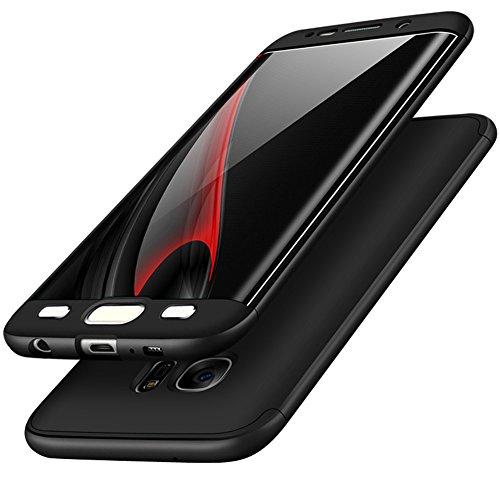 - Runchuan Galaxy S6 Edge Case PC 3 En 1 Hard Shell Screen Protective Film(Black)
