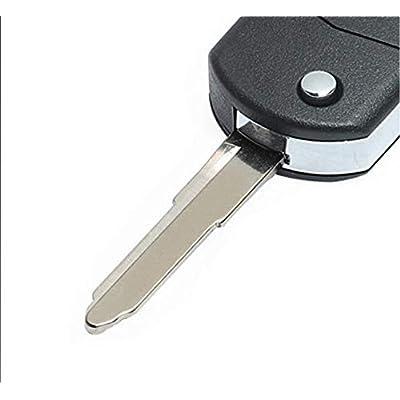 Keyecu Replace Flip Shell Remote Key Case Fob 3 Button For Mazda 3 5 6 RX8 CX5 CX7 CX9: Automotive