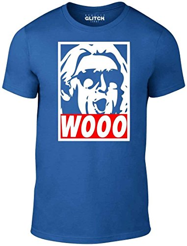 Reality Glitch Wooo T-Shirt - Wrestling Nature Boy RIC Flair (XL, Royal Blue) by Reality Glitch
