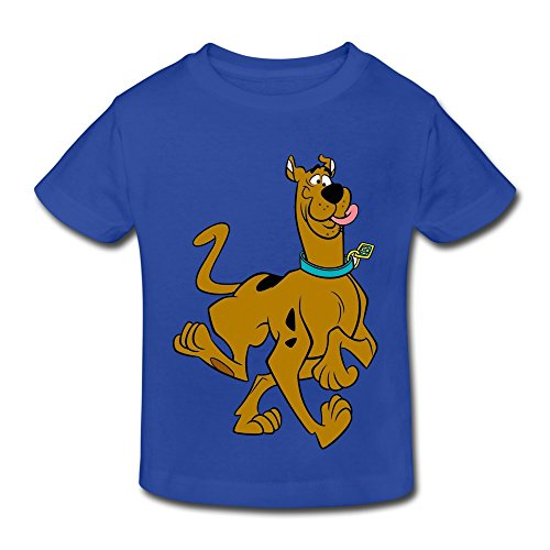 Age 2-6 Kids Toddler Scooby Doo Logo Little Boy's Girl's T-Shirt RoyalBlue Size 5-6 Toddler