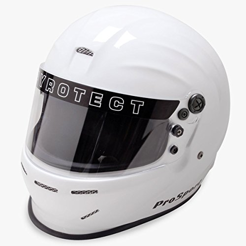 Pyrotect 8066005 Full Face Helmet, XX-Large, White SA2010