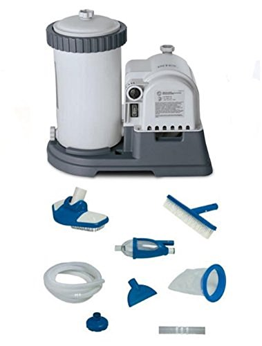 INTEX 2500 GPH GCFI Pool Filter Pump with Timer (633T) & Deluxe Maintenance Kit