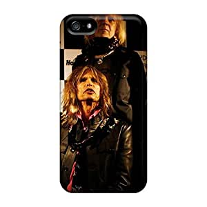 Perfect Hard Phone Covers For Iphone 5/5s With Customized Vivid Aerosmith Band Image AlainTanielian