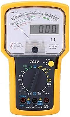 mult/ímetro anal/ógico mult/ímetro multifunci/ón de alta precisi/ón de alta sensibilidad y pantalla doble para voltaje de CA Mult/ímetro digital
