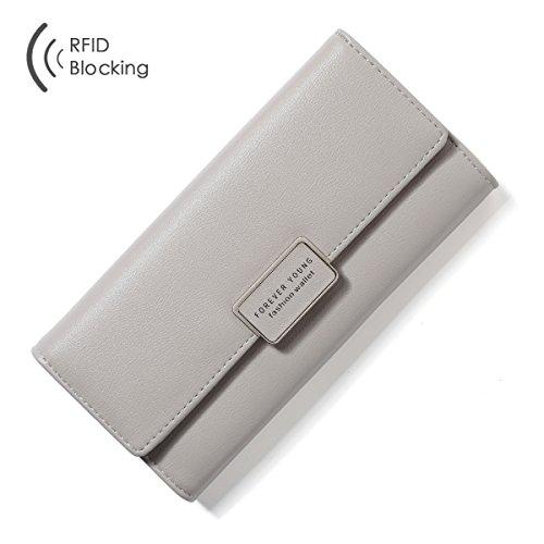 Aoliner Women RFID Blocking Multi Card Organizer Wallet for women Purse