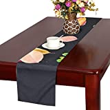 Autumn Orange Nature Red Yellow Fall Maple Color Table Runner, Kitchen Dining Table Runner 16 X 72 Inch For Dinner Parties, Events, Decor