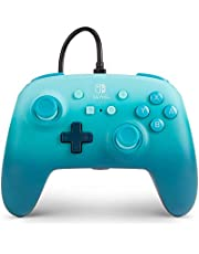 PowerA Enhanced Wired Controller for Nintendo Switch - Aquatic Fantasy, blue, gamepad, wired video game controller, gaming controller