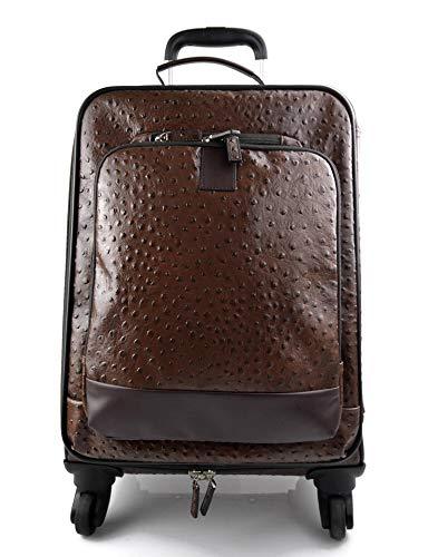 Maleta de avion in piel cafè trolley rígida maleta de cuero bolso de cuero de viaje hombre mujer bolso con ruedas