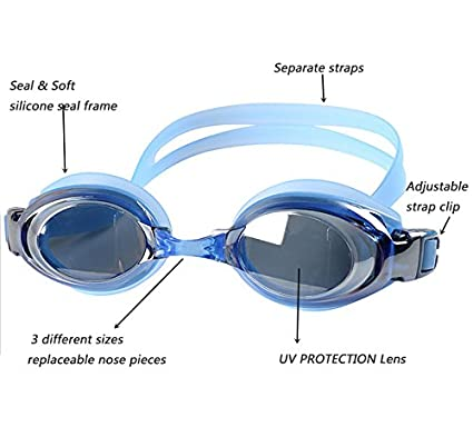 9a774892222 Amazon.com   YINGNEW UV Protection Prescription Swim Goggles Adjustable  Size for Kids Adults Youth