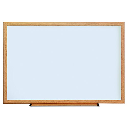 Universal 43619 Dry Erase Board, Melamine, 36 x 24, Oak Frame